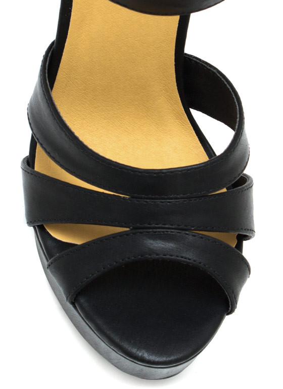 Strap It Up Gladiator Heels BLACK