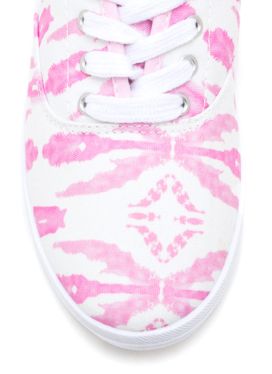 Tie Dye For Canvas Sneakers HOTPINK