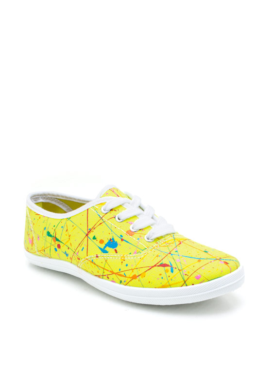 Mad Splatter Canvas Sneakers YELLOW