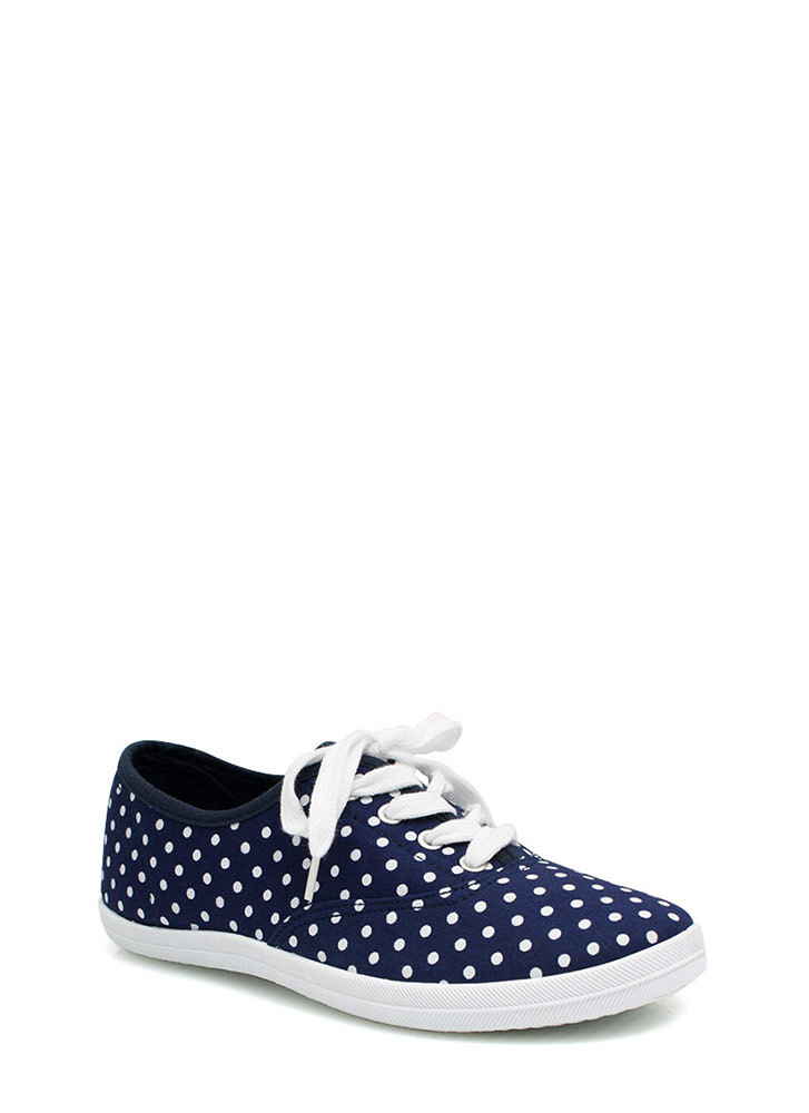 Do The Polka Canvas Sneakers NAVY
