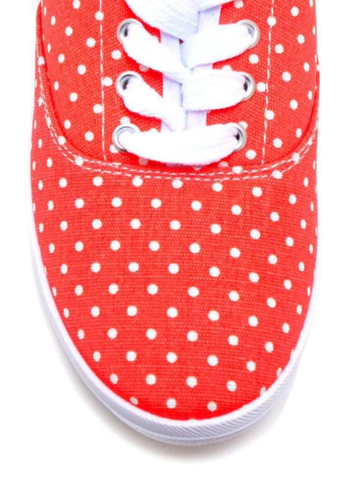 Do The Polka Canvas Sneakers ORANGE