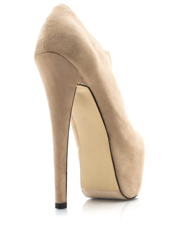 Mile High Time Platform Booties TAUPE
