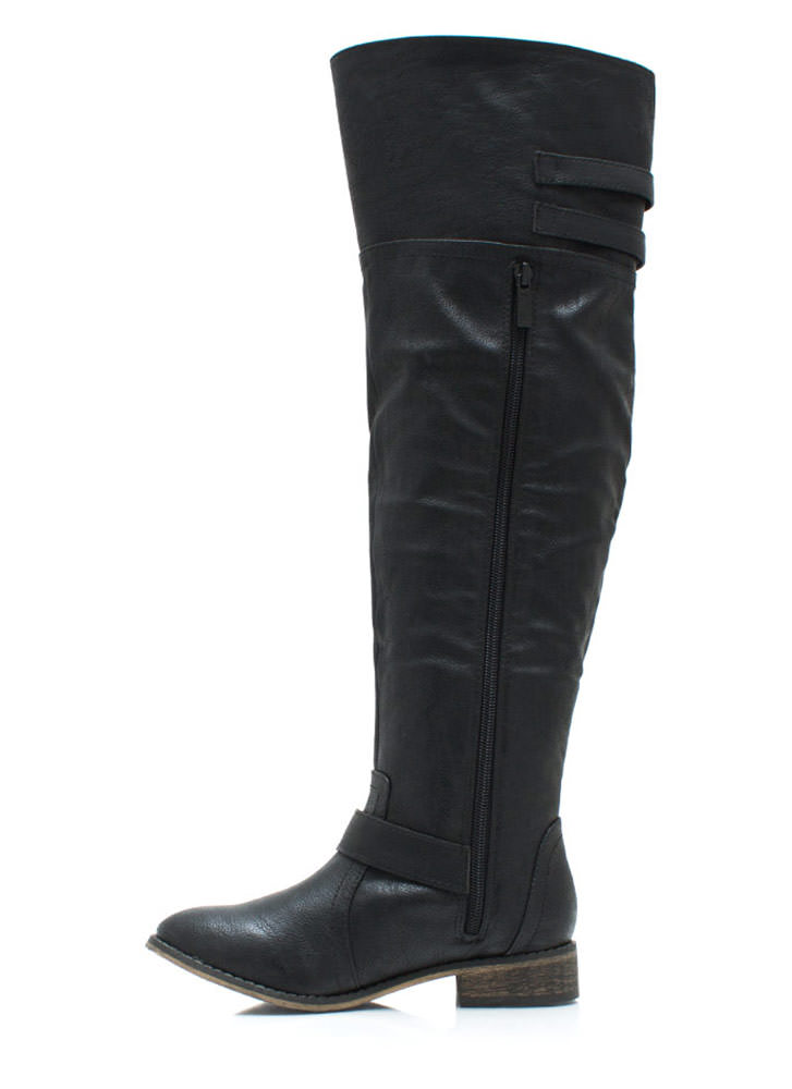 Strapped And Ready Riding Boots BLACK