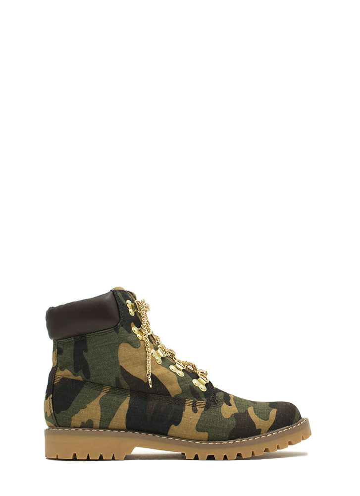 Chain Ge Of Pace Work Boots CAMOUFLAGE