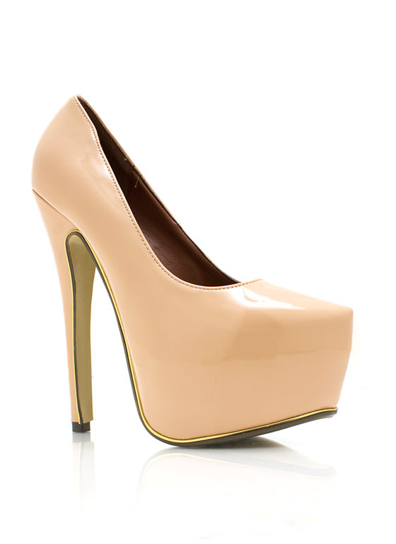 On The Edge Platform Pumps NUDE