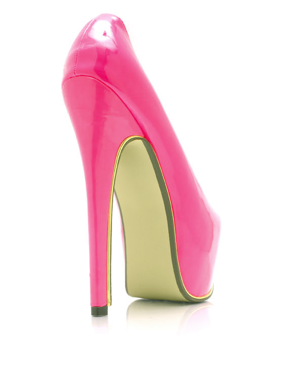 On The Edge Platform Pumps PINK
