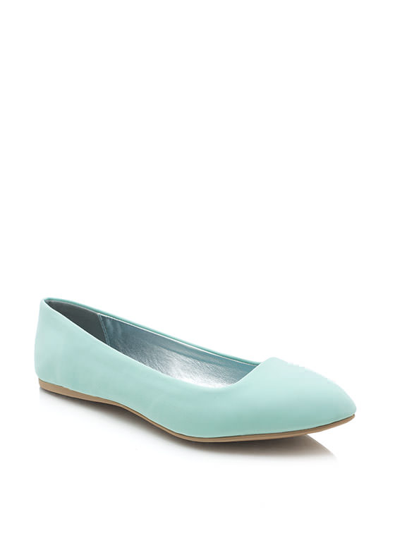 Point It Out Faux Nubuck Flats MENTHOL