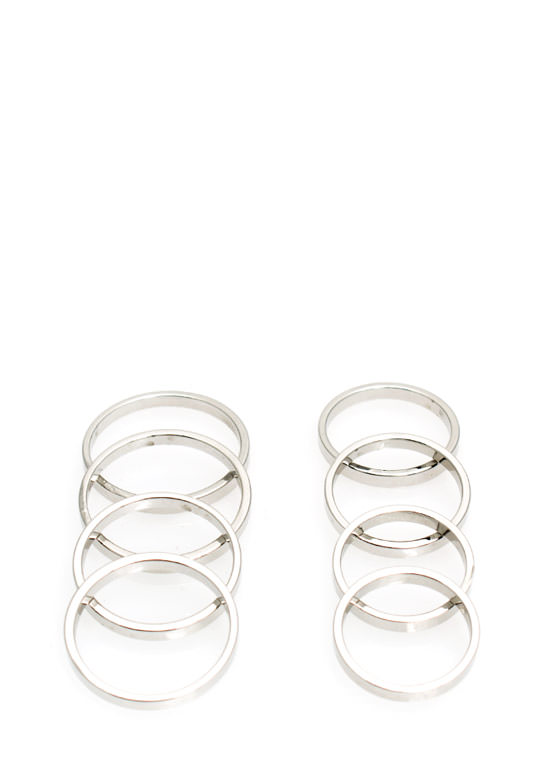 Hi 8ers Ring Set SILVER