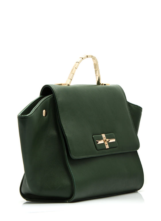 Structured Build Faux Leather Purse OLIVE
