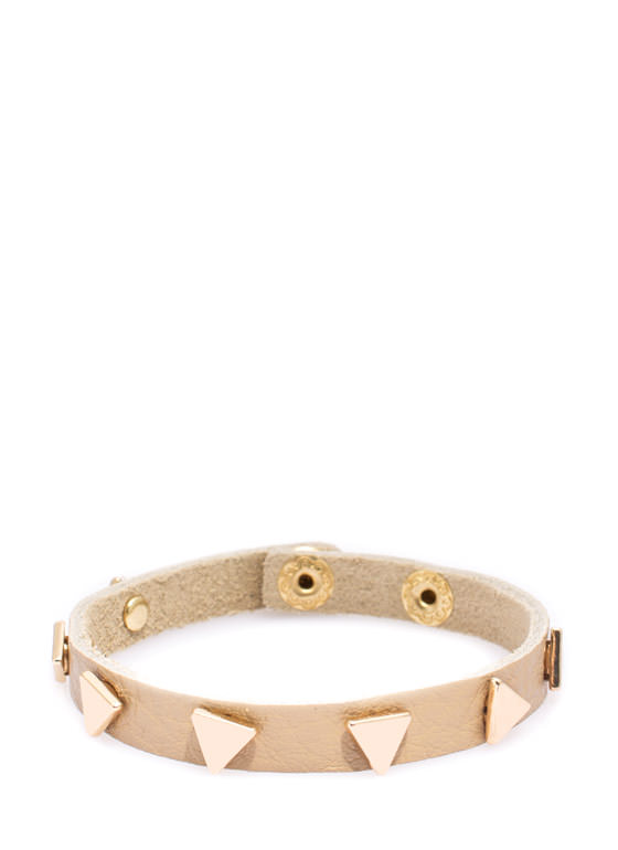 Equilateral Faux Leather Bracelet TANGOLD