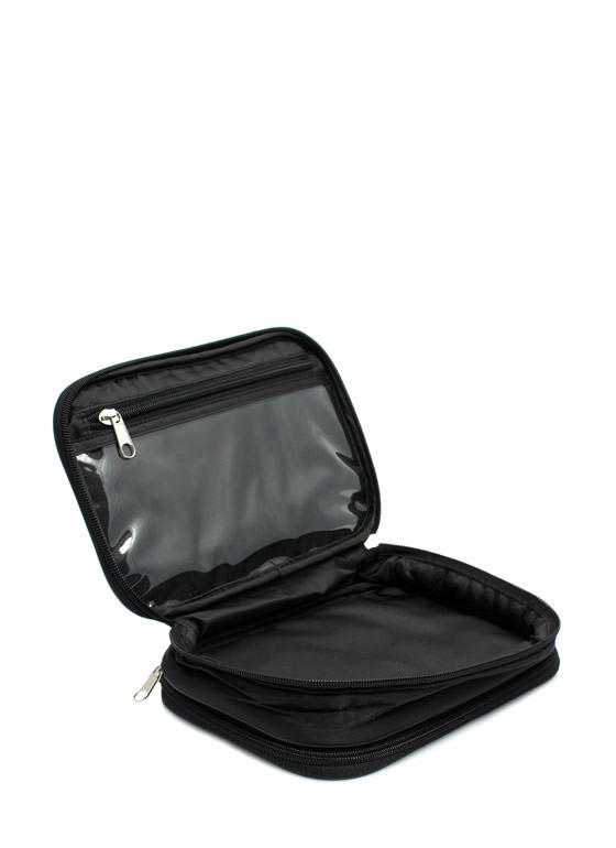 NYX Large Double Zipper Makeup Bag BLACK