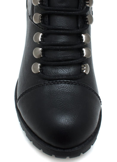 Hike It Up Tall Lace Up Boots BLACK