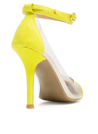Clear 2 Me Cap Toe Heels LIME
