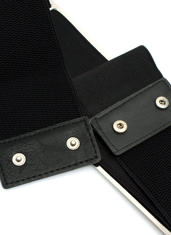 Super Thick Metal Plate Belt SILVERBLK