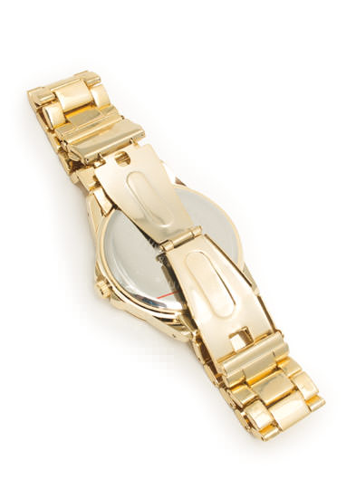 Zigzag Face Boyfriend Watch BLUEGOLD