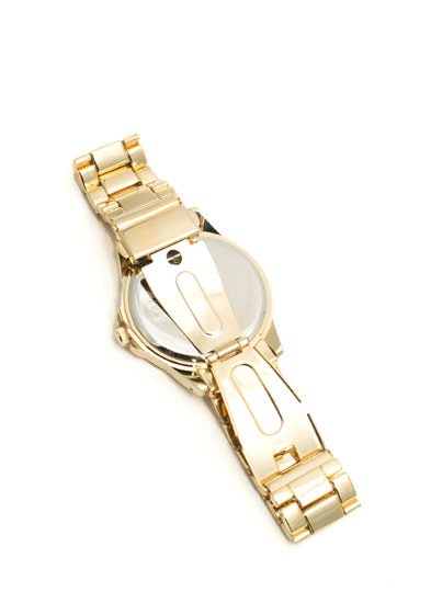 Zigzag Face Boyfriend Watch PINKGOLD
