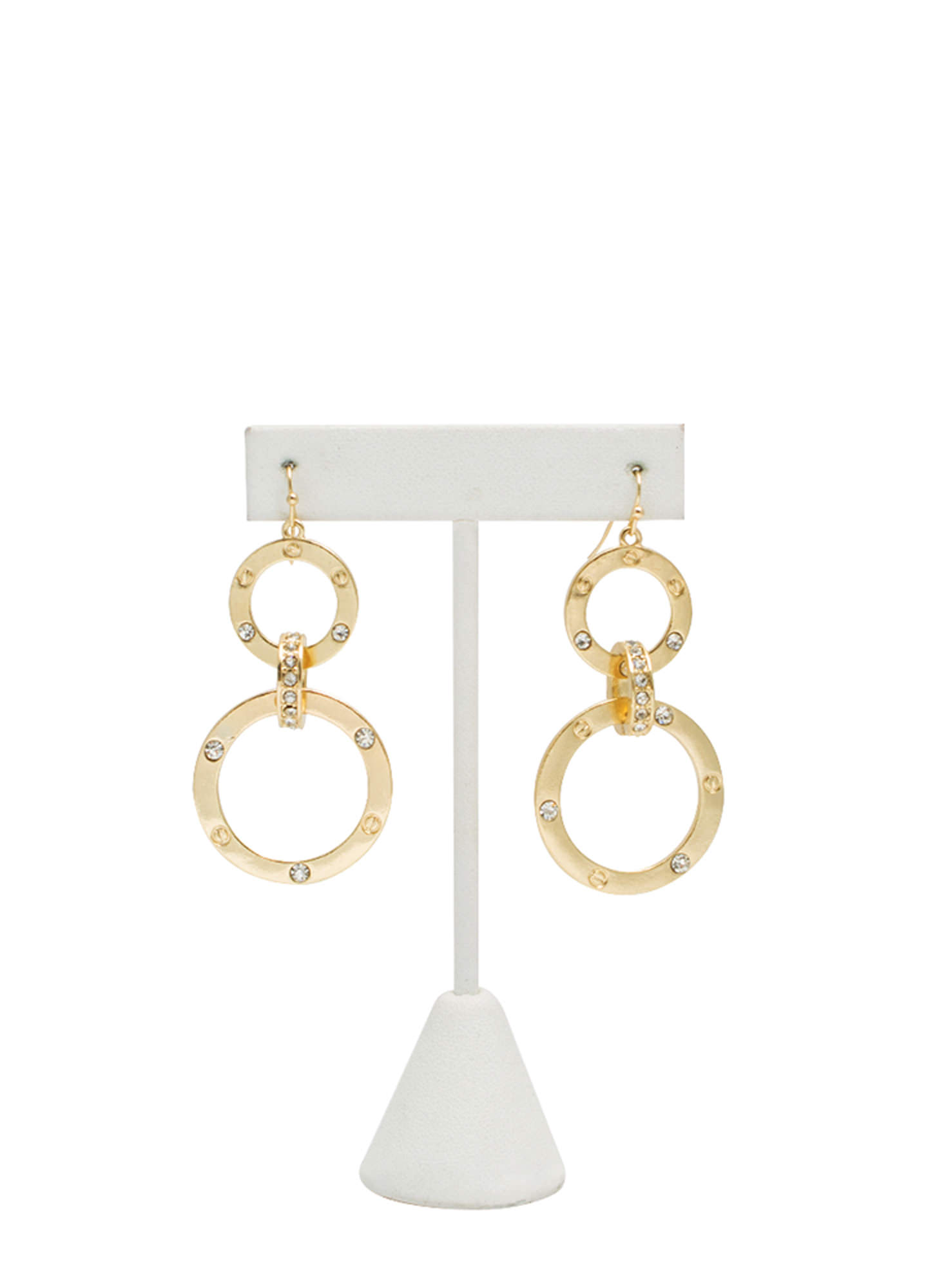 Riveting Circle Earrings GOLD