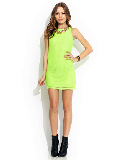 Stay Sporty Mesh Dress NEONLIME