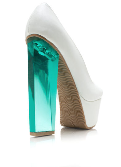 I Love Lucite Platform Pumps WHITE