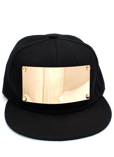 Plate A Big Part Canvas Snapback BLACKGOLD