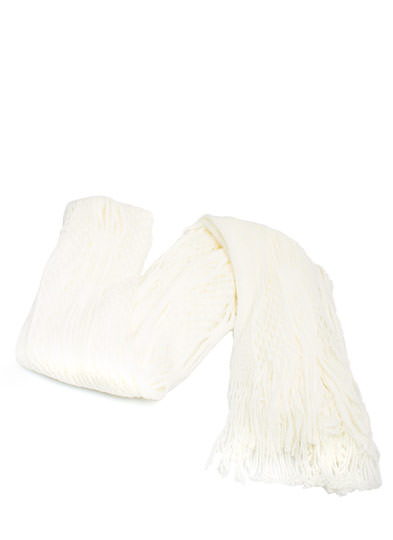 Netted Tube Knit Scarf IVORY