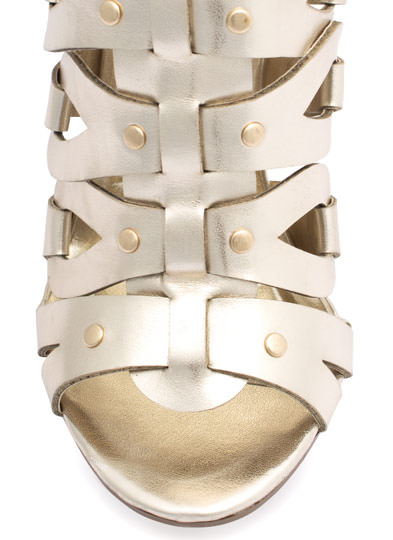 Tear It Up Gladiator Heels LTGOLD