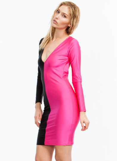 Better Half Plunging Open-Back Dress BLACKPINK