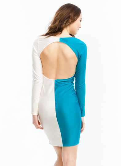 Better Half Plunging Open-Back Dress JADEBEIGE
