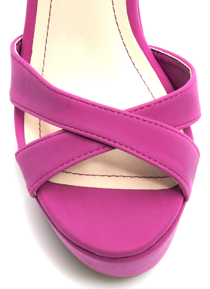 Let's Get Basic Crisscross Wedges ORCHID
