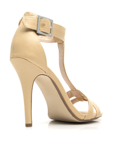 Fit Two A T Ankle Strap Heels SAND