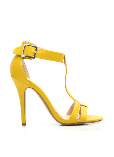 Fit Two A T Ankle Strap Heels YELLOW