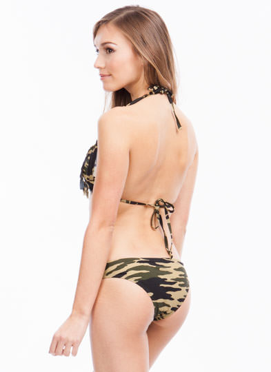 Boot Camp Fringe Bikini Top OLIVEBLACK