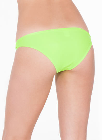 Twist Front Bikini Brief Bottoms NEONGREEN