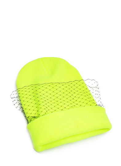 Lift the Veil Knit Beanie NEONYELLOW