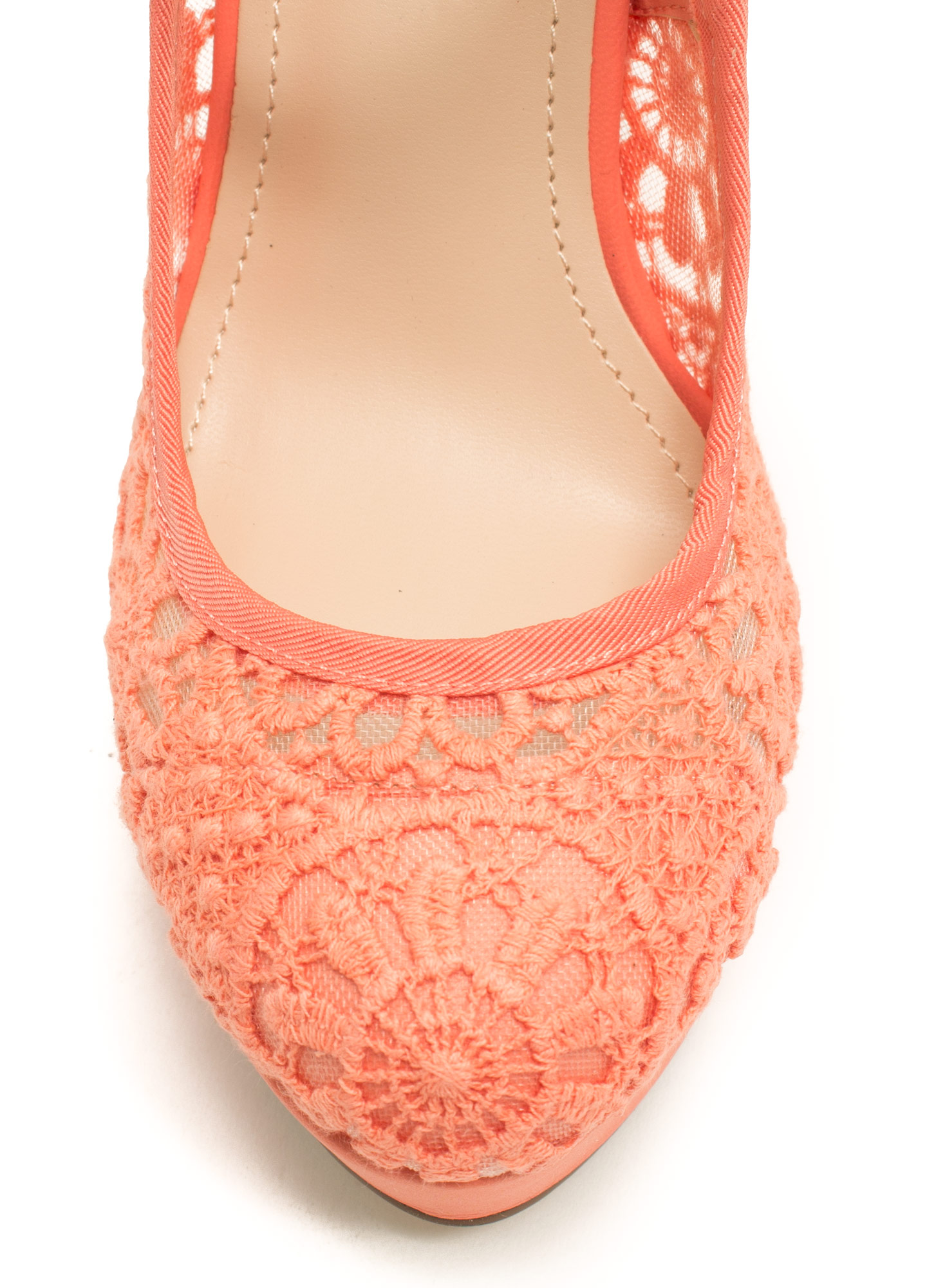 Lace Base Mary Jane Pumps MELON