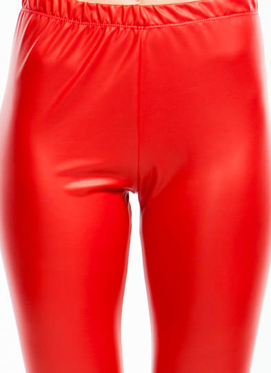 Slick Move High-Waisted Leggings RED
