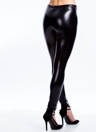 Slick Move High-Waisted Leggings SHINYBLACK