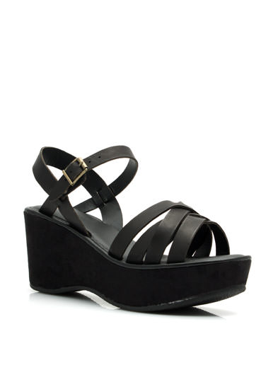 Strap It Together Wedges BLACK