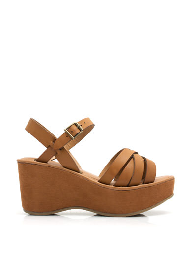 Strap It Together Wedges CHESTNUT