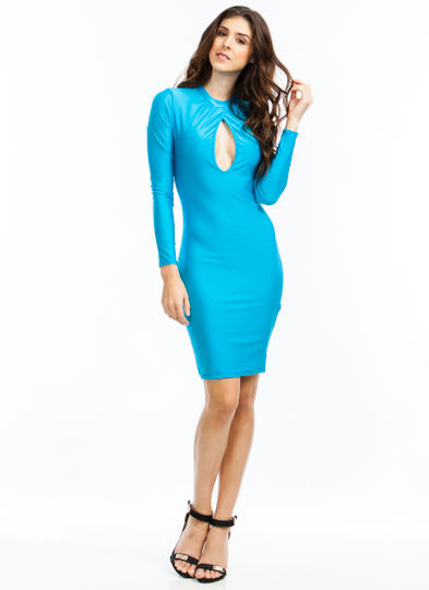 Turn The Keyhole Bodycon Dress JADE