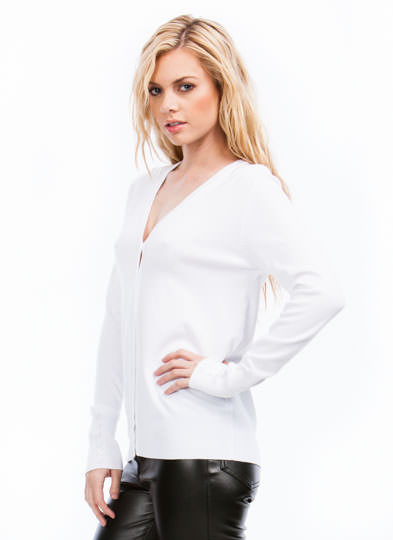 Push The Right Buttons Cardigan WHITE