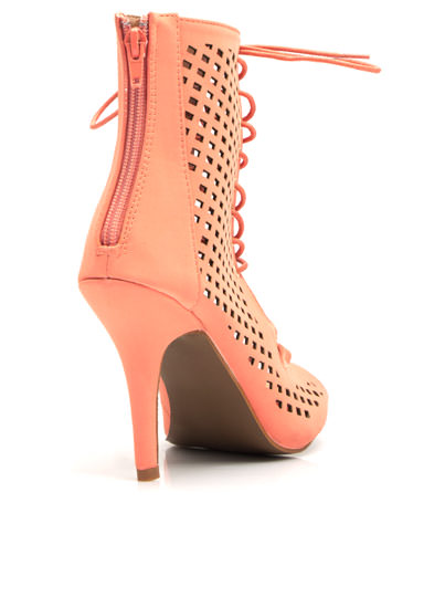 Perforated Cut-Out Heels PEACH
