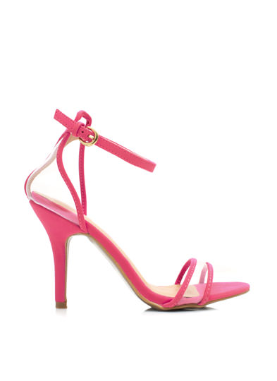 Clear The Way Ankle Strap Heels CANDYPINK