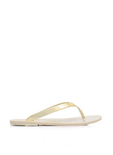 So Jelly Metallic Thong Sandals GOLD