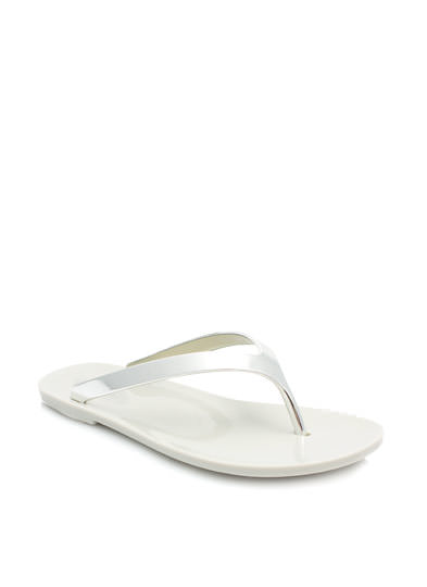 So Jelly Metallic Thong Sandals SILVER