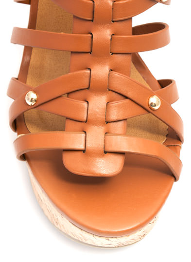 Be Strappy Cork Wedges TAN