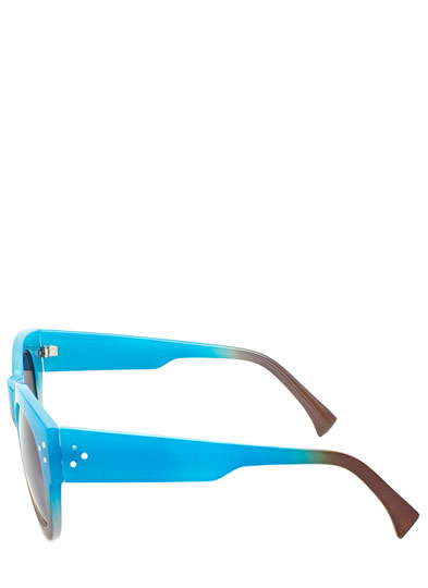 Around and Around Ombre Sunglasses BLUE