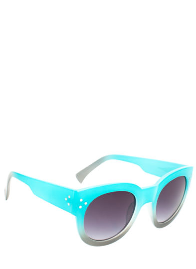 Around and Around Ombre Sunglasses TURQUOISE
