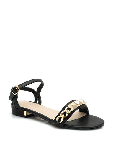 Chained To The Pyramids Sandals BLACK