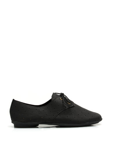Lets Dance Perforated Jazz Flats BLACK